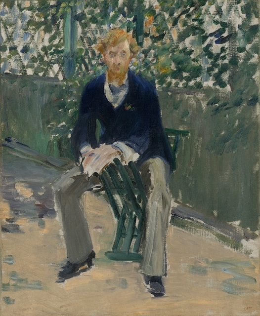 , 'George Moore in the Artist's Garden,' ca. 1879, Seattle Art Museum