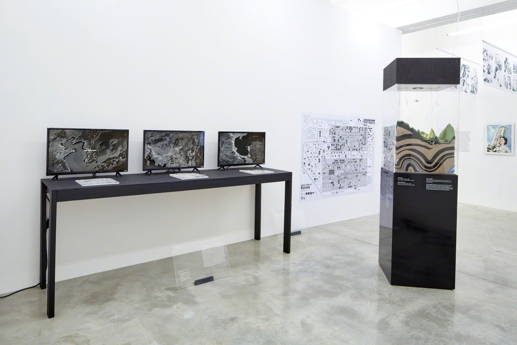 Borders, Crow's Eye View: The Korean Peninsula; Tina Kim Gallery, NY, 2015. Photo by Jeremy Haik