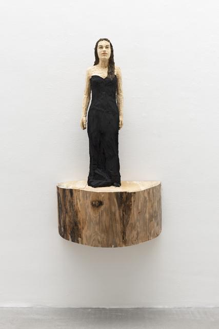 , 'Woman with long black dress,' 2018, Akinci