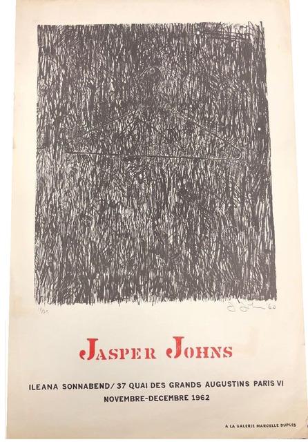 "Jasper Johns, '""JASPER JOHNS"", 1962, Exhibition Poster, Ileana Sonnabend Paris.', 1962, VINCE fine arts/ephemera"