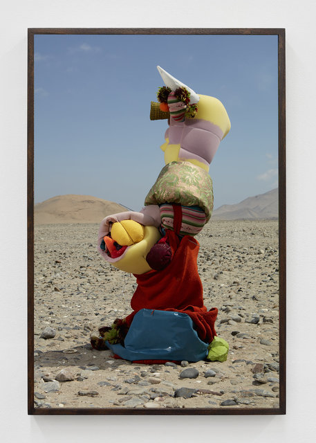 Lorenzo Vitturi, 'Green Cotisso, Mantas, Foam, Green Fortuny, Mask, Wicker Vase, Blue Plastic in Paracas ', 2019, Photography, Acrylic on archival pigment print, T293