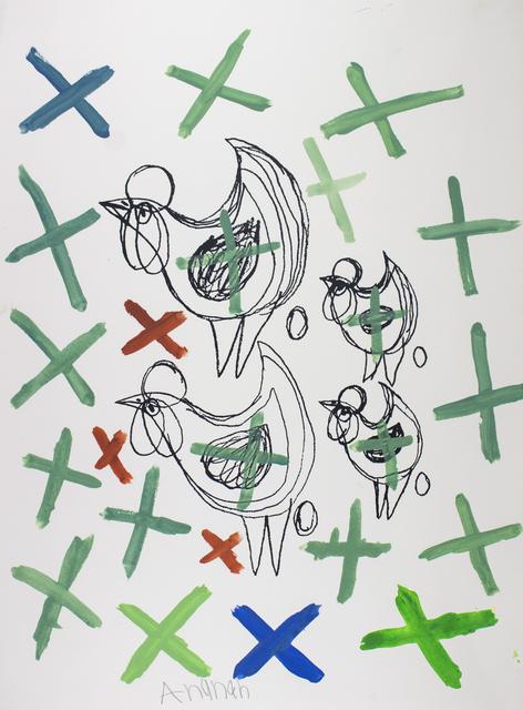 , 'Chooks and Crosses,' 2017, Studio A