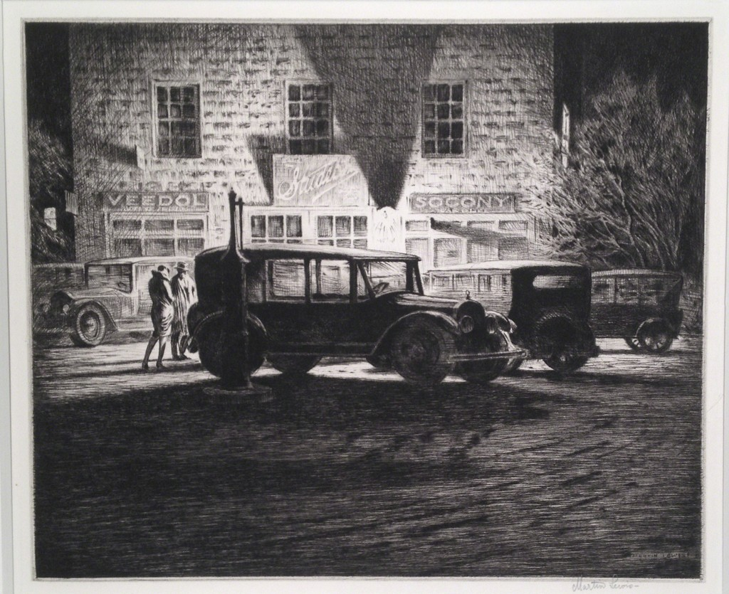 Martin Lewis | Shadows, Garage at Night (1928) | Available for ...