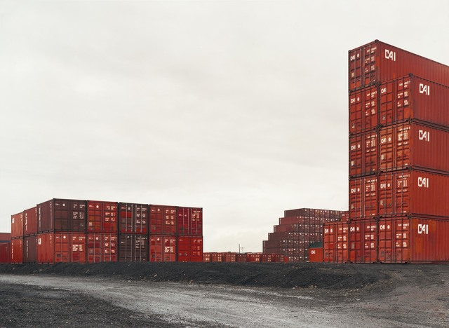 , 'Untitled (red containers, stacked),' 2001, Hostler Burrows