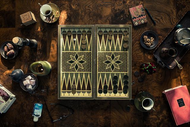 Christos J. Palios, 'Backgammon, Dates, & Rose Lokums', 2020, Photography, Archival Pigment Canson Platine Print, Isabella Garrucho Fine Art