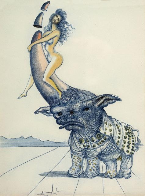 Salvador Dalí, 'Girl on Rhinoceros Horn. Casanova', 1967, Baia Gallery