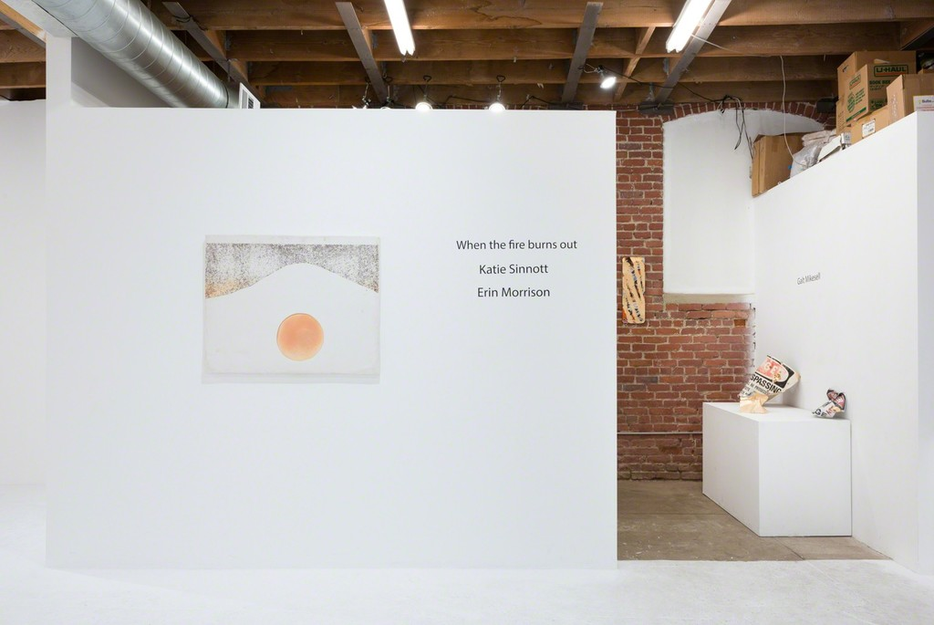 Erin Morrison & Katie Sinnott - 'When the fire burns out', installation view. Chimento Contemporary. Photo: Ruben Diaz