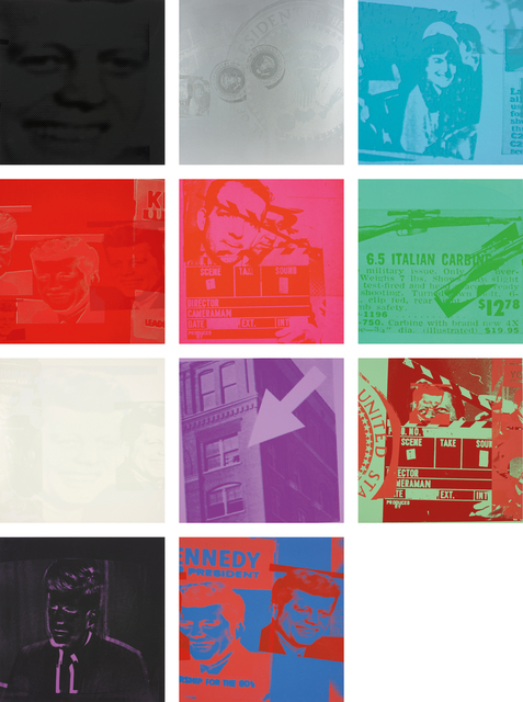 Andy Warhol, 'Flash - November 22, 1963', 1968, Print, The complete set of 11 screenprints in colours, on wove paper, the full sheets, with individual paper folders with printed text and original linen-covered portfolio screenprinted in silver, Phillips