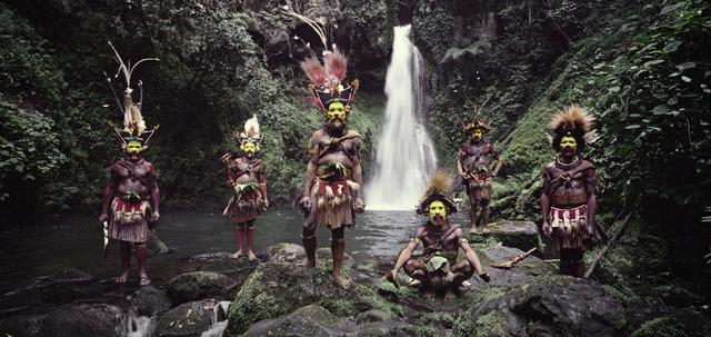 , 'Tumbu, Hangu, Peter, Hapiya, Kati, Hengene & Steven Huli Wigmen, Ambua Falls, Tari Valley Papua New Guinea,' 2010, Atlas Gallery
