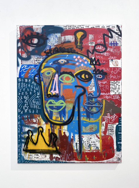 Clarence James, 'Gu(i)ded', 2021, Painting, Acrylic, aerosol, oil stick on canvas, DTR Modern Galleries
