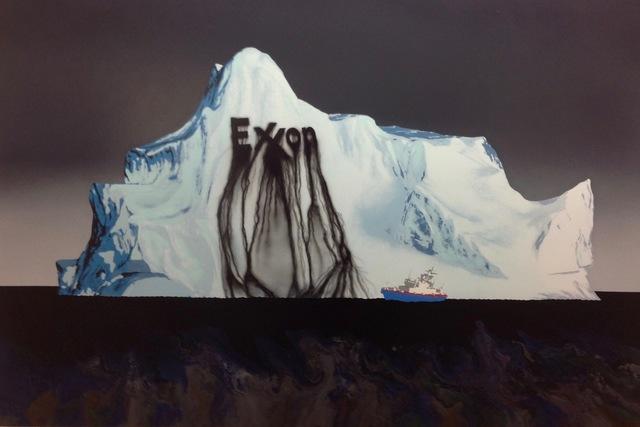 Zevs, 'Search Iceberg, liquidated Exxon', 2017, MARCEL STROUK Galerie Rive Gauche