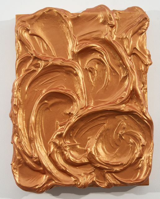 Shayne Dark, 'Storm Surge Orange', 2019, Painting, Acrylic, durabond, resin on wood panel, Oeno Gallery