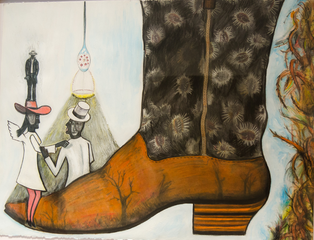 , 'The Cowboy Boot Series: The White and Black of Everything,' 2010, Clark Gallery