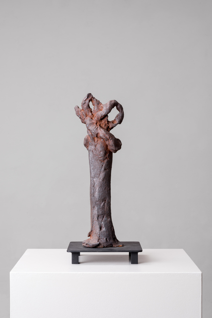 Simone Fattal, 'Tree', 2012, Sculpture, Stoneware fired in a wood kiln, metal base, Galerie Hubert Winter