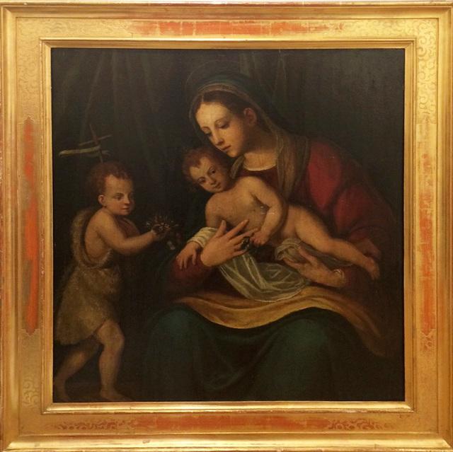 Callisto Piazza, 'Virgin with Child and the Boy John (Madonna mit dem Kind und dem Johannes Knäblein)', ca. 1536, Galerie AM PARK