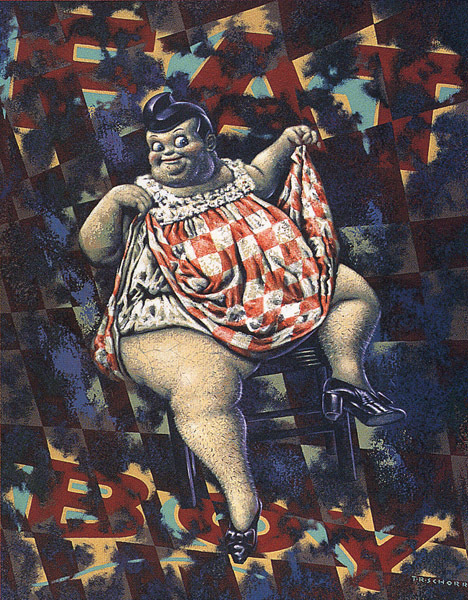 Todd Schorr, 'Fat Boy', 1989, Painting, Acrylic on paper, KP Projects