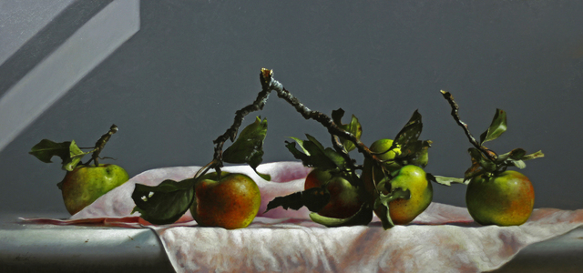 , 'Six Wild Apples,' 2018, William Baczek Fine Arts
