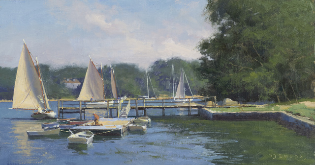 Donald W. Demers, 'A Coming Breeze, Quisset Harbor, Cape Cod', 21st Century, Painting, Oil on mounted linen, Vose Galleries