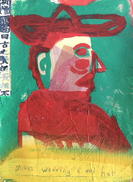 , 'Man Wearing a Red Hat,' 2019, Modern West
