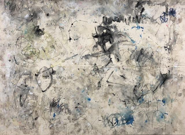 Kimberly Rowe, 'Origin', 2018, Painting, Charcoal, acrylic, sand, gel medium, ink on canvas, TWFINEART