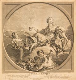 The Four Poems (Les Quatre Poésies), c. 1741 after François Boucher (French 1703–1770) (a group of 4)