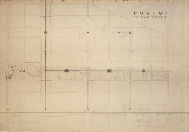 , 'Poston Park and Recreation Areas at Poston, Arizona,' 1942, Noguchi Museum