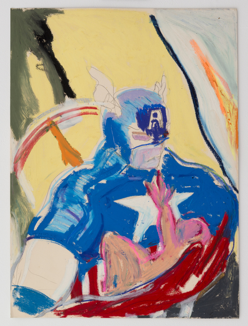 , 'Captain America and Child,' 1980-1989, Castor Gallery