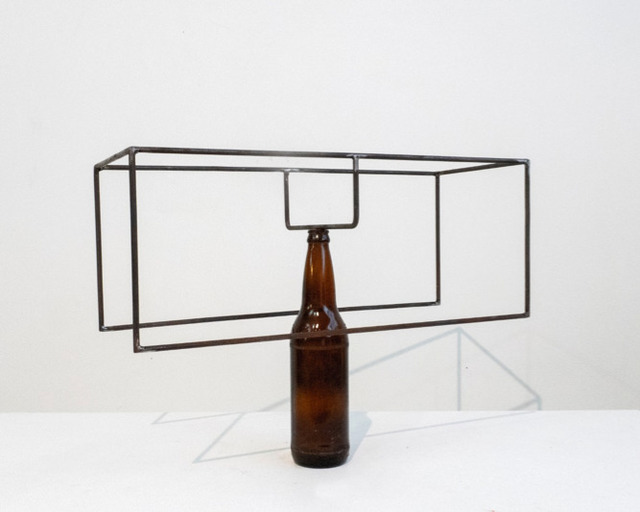 Raul Mourão, 'Uma', 2019, Sculpture, Carbon steel with synthetic resin and glass, Galeria Nara Roesler