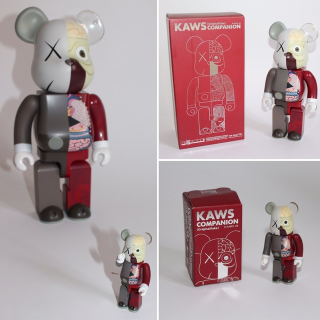KAWS, 'Dissected Companion: Bearbrick 400% & 100% (Red)', 2010, Lougher Contemporary