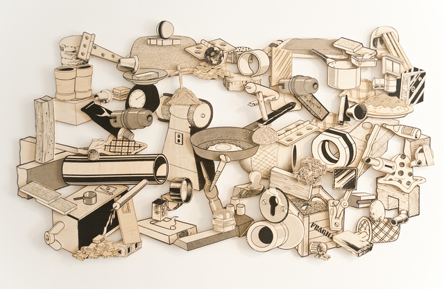 , 'Games, Dance, and the Constructions (unfinished plywood) #7,' 2015, Jane Lombard Gallery