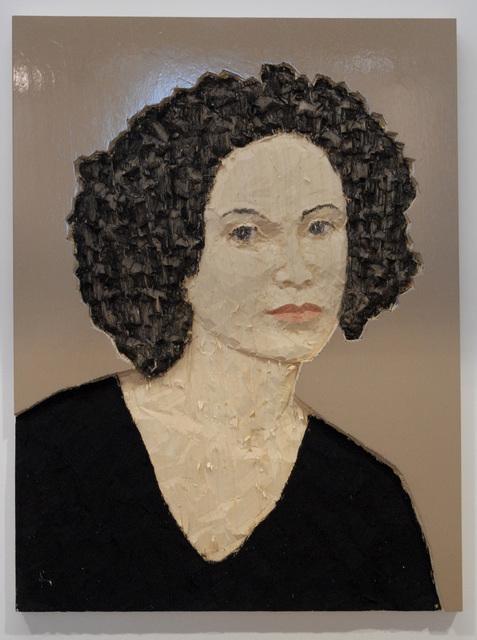 , 'Relief Frau vor beigem Hintergrund,' 2010, Deweer Gallery