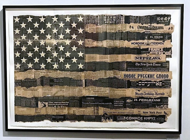 , 'Melting Pot Flag (America the Melting Pot),' 1976-1989, Alpha 137 Gallery