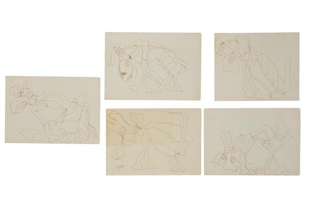 Rodolfo Nieto, 'Animales (five works)', John Moran Auctioneers