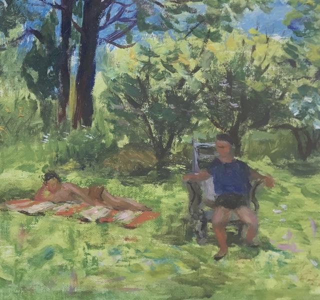 Alvin Ross, 'Backyard', Mid-20th century, Bakker Gallery
