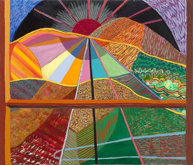 , 'Closed Window 6 (Dark Sun),' 2018, Gregory Lind Gallery