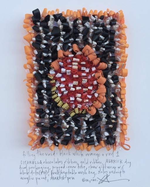 Constance Old, 'Filling the void: black white orange + red #1', 2017, Maria Elena Kravetz