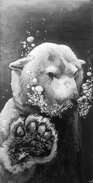 Sylvie Lescan, 'L'ours à bulles', 2018, Galerie Libre Est L'Art
