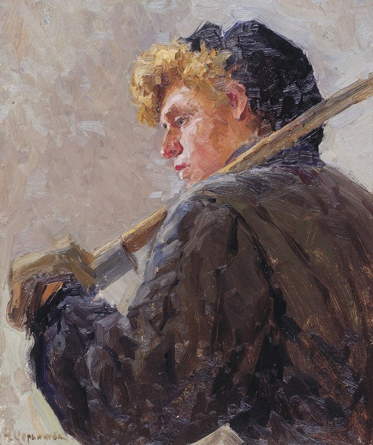 ", 'Sketch ""Miner"",' 1960, Surikov Foundation"