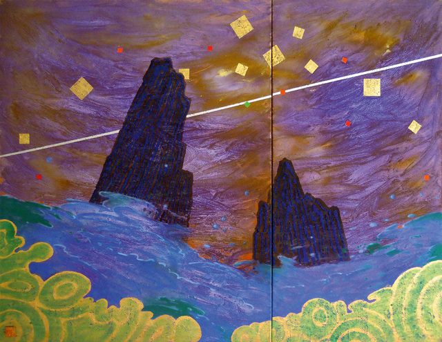 , 'Purple Deluge - Diptychon,' 2006, Galerie AM PARK