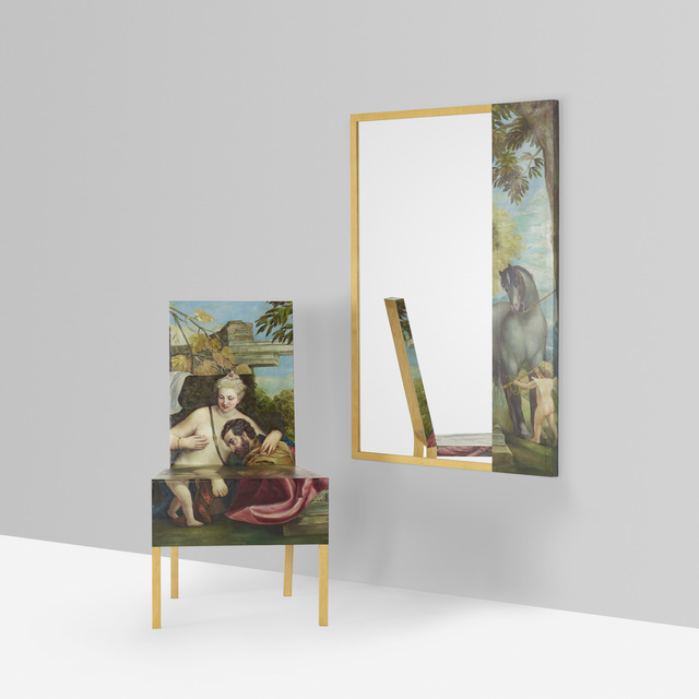 Constantin Boym, 'Unique Venus and Mars Chair and Mirror', 2006, Wright