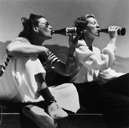 , 'Two Models Drinking Coke,' 1940s, Staley-Wise Gallery