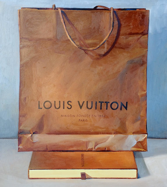, 'Brown and Blue (Louis Vuitton Bag),' 2018, Rosenthal Fine Art