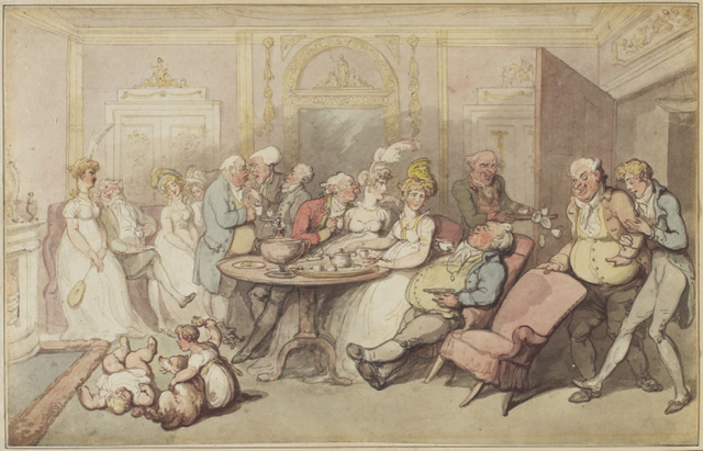 Thomas Rowlandson, 'After Dinner', ca. 1805, Art Gallery of Ontario (AGO)