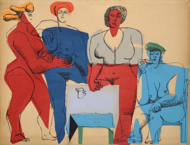 Le Corbusier, 'Four Women,' 1950, Galerie Zlotowski