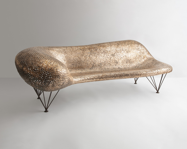 , 'Unique Penny Couch in welded pennies and stainless steel. ,' 2018, R & Company