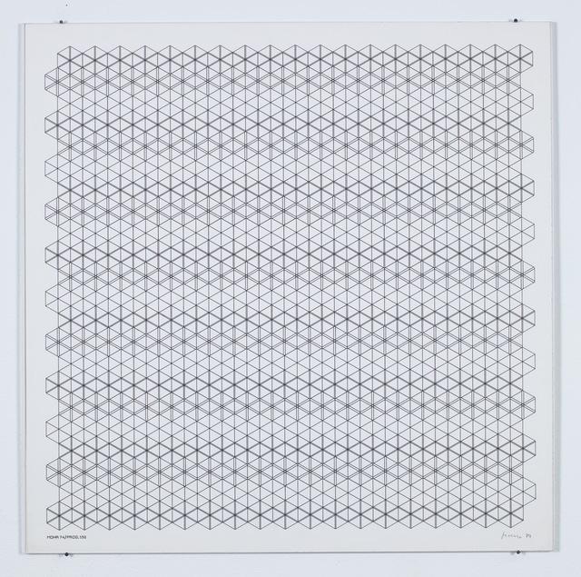 Manfred Mohr, 'P-150 (Hexagons)', 1974, bitforms gallery