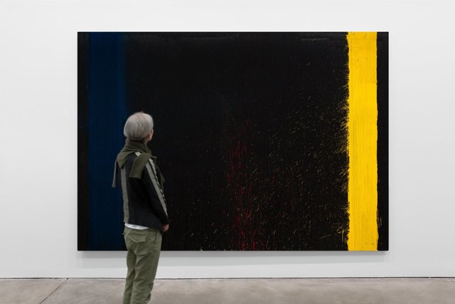 Pat Steir, 'So Long Black, Silver and White', 2009, Galerie Thomas Schulte