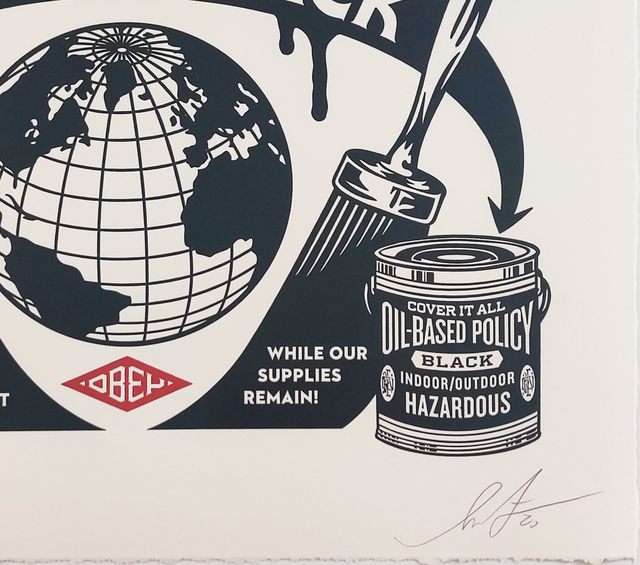 Shepard Fairey, 'Paint It Black Obey Giant Letterpress Print', 2020, Print, Letterpress on cream cotton paper with hand-deckled edges., New Union Gallery
