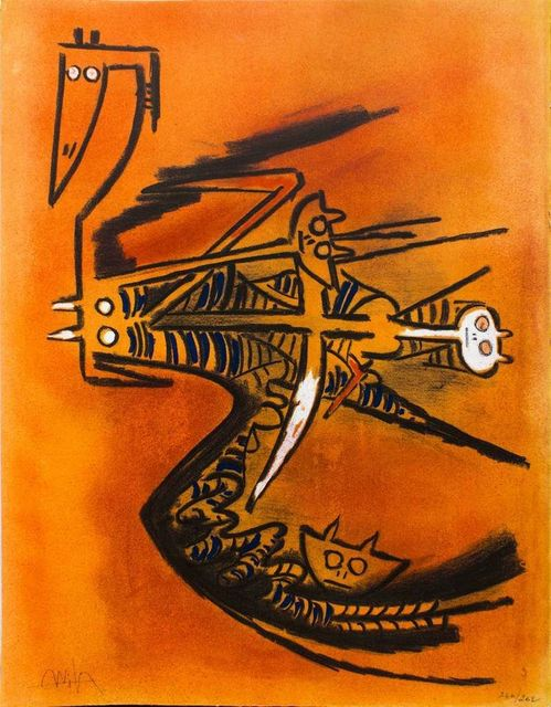 ", 'Soeur de la Gazelle - from the suite ""Pleni Luna"",' 1974, Wallector"