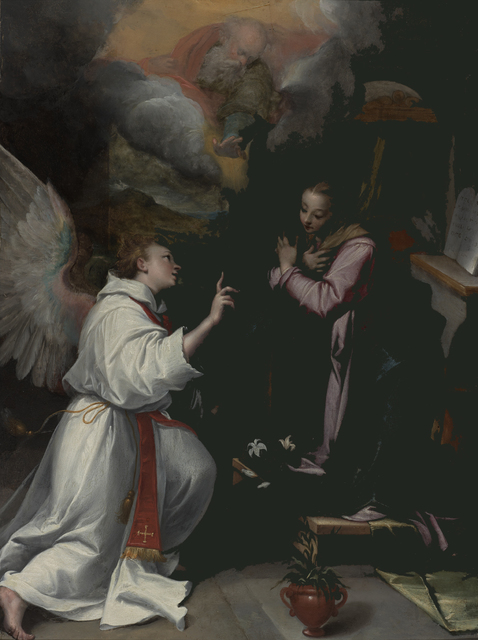 , 'Annunciation,' ca. 1595, Bowdoin College Museum of Art